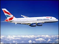 A380 in BA livery