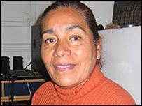 """Lucía Guzmán, alumna del taller de """"Ojos que Sienten"""""""
