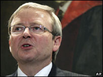 Australian opposition leader Kevin Rudd (file photo)