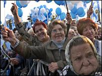 A rally for Viktor Yanukovych
