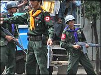 Tropas birmanas