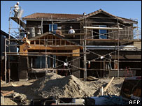 House being built in California