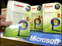 Windows Vista on shelf, PA