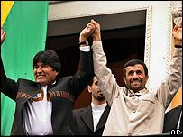 أحمدي نجاد وموراليس