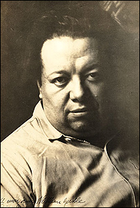 Diego Rivera. Foto: Smithsonian Archives of American Art. [Photographic print: 1p.; 24x18cm. John Weatherwax papers relating to Diego Rivera and Frida Kahlo, 1928-1988 (bulk 1931-1933). Archives]