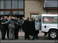 Mourners at Graeme Duncan's funeral