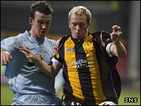 Danny Swanson (right) in action for Berwick