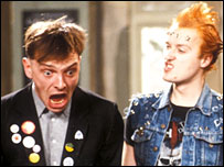 Rik Mayall and Ade Edmonson in the Young Ones