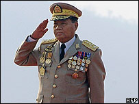 Burma's military chief, Than Shwe (file photo)
