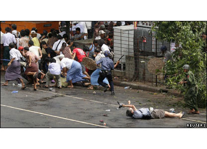 represion en Birmania