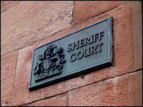 Inverness Sheriff Court sign