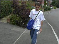 Paperboy doing paper round