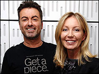 George Michael and Kirsty Young