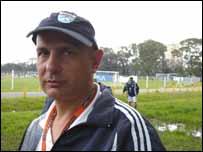 Néstor Gammilla, entrenador del equipo Dogos de Argentina