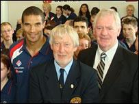 David James, Keith Wilcox and Lawrie McMenemy
