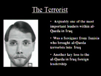 A Pentagon slide showing a photofit of Abu Osama al-Tunisi