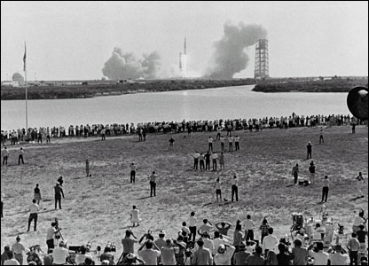 Apollo 11 launches from Kennedy Space Center. Image: Nasa.
