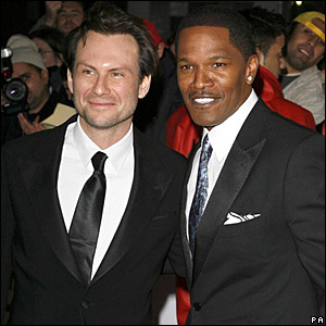Christian Slater and Jamie Foxx