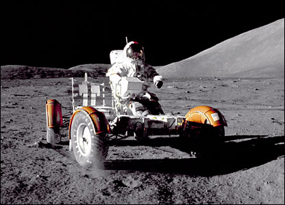 Eugene Cernan in Lunar Roving Vehicle. Image: Nasa