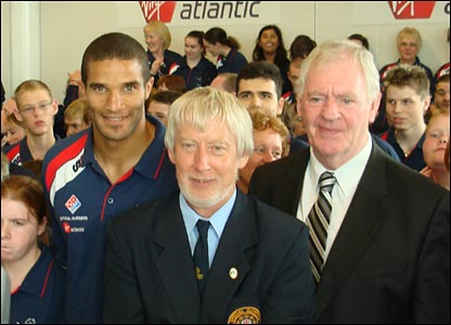 David James, Keith Wilcox and Lawrie McMenemy