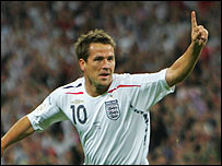 Michael Owen has been on target for England