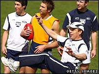 Geelong in training, 27 Sep 2007