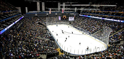 Action at London's O2 Arena