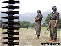 PKK fighters in northern Iraq (file pic)
