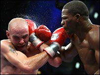 Pavlik (left) goes toe-to-toe with Taylor