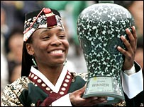 Venus Williams in traditional Korean clothing