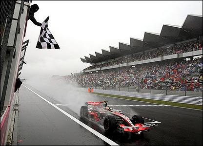 That after Lewis Hamilton storms to the chequered flag in first place - his fourth victory of the season