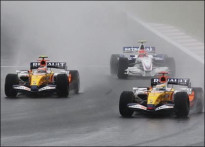 And it's also an impressive performance from the Renaults, with Heikki Kovalainen striding through to finish second