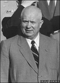 Nikita Khrushchev pictured in 1955. Image: Getty Images.