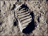 Buzz Aldrin's footprint. Image: Nasa.
