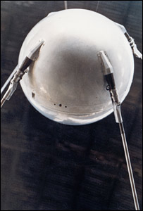 Mock-up of Sputnik 1. Image: Nasa.