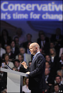 William Hague speaks at the conference in Blackpool