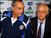 Chelsea manager Avram Grant (left) and chairman Bruce Buck
