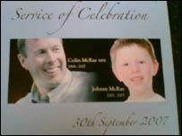 McRae service of celebration poster