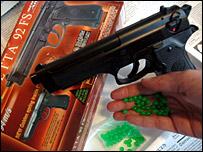 A Beretta ball-bearing gun