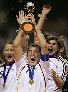 German captain Prinz lifts the trophy