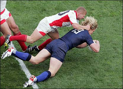 Remy Martin adds the eighth try for the French