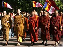 Pro-Burmese democracy protestors in London
