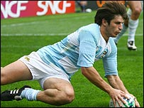 Winger Lucas Borges scored Argentina's first try