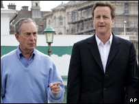 Michael Bloomberg (left) with David Cameron