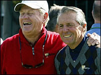 US captain Jack Nicklaus (left) and Internationals captain Gary Player