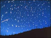 Perseid meteor track