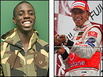 Darius Knight and Lewis Hamilton