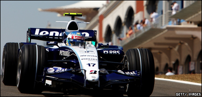 The Williams Formula One car in action in Turkey
