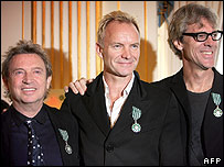 Andy Summers, Sting and Stewart Copeland