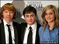 Rupert Grint, Emma Watson and Daniel Radcliffe
